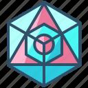 icosahedron, geometry, shape, design, sacred, creative