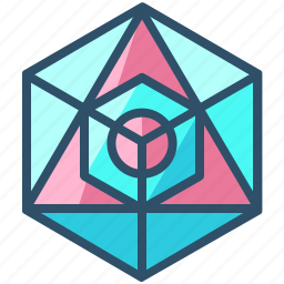 creative, design, geometry, icosahedron, sacred, shape icon