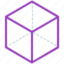 creative, design, geometry, hexahedron, line, shape icon
