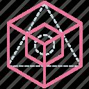 icosahedron, line, design, shape, triangle, creative