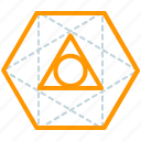 creative, design, geometry, line, octahedron, shape icon