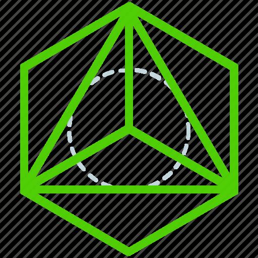 creative, design, line, sacred, shape, triangle icon
