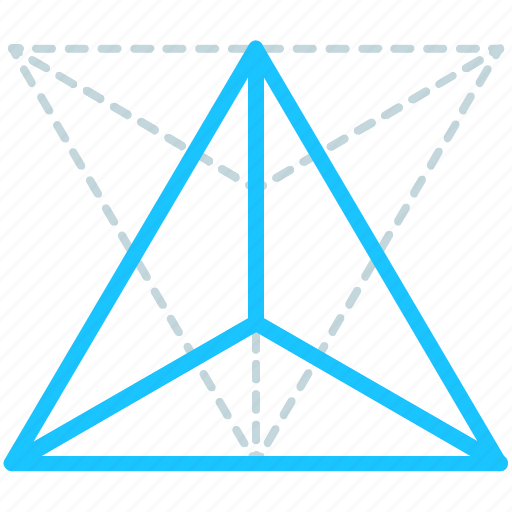 Line, tetrahedron, creative, design, geometry, shape icon - Download on Iconfinder
