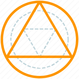 creative, design, geometry, line, shape, triangle icon