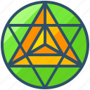 creative, cube, design, geometry, metatron, shape icon