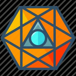creative, geometry, octahedron, sacred, shape icon