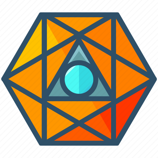 creative, geometry, octahedron, sacred, shape icon