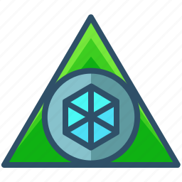 creative, design, geometry, sacred, shape, triangle icon