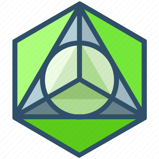 creative, design, geometry, sacred, shape, triangle icon
