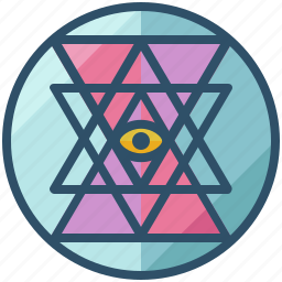 design, geometry, sacred, shape, sri, yantra icon