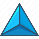 creative, geometry, sacred, shape, tetrahedron icon