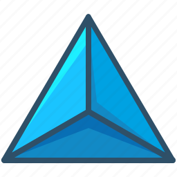 creative, geometry, sacred, shape, tetrahedron icon