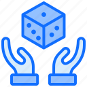 gambling, game, casino, hand, safe, dice