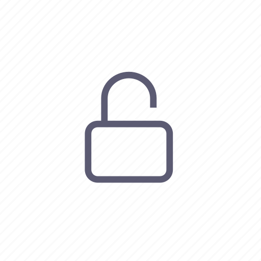 lock, open, safety, security, unlocked icon
