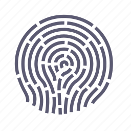 fingerprint, maze, pattern, protection, safety, security icon