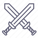 attack, crossed swords, destroy, hacking, kill, safety, sword icon