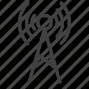 antenna, radio, tower, transmission