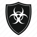 biohazard, biological, danger, hazard, shield, toxic icon