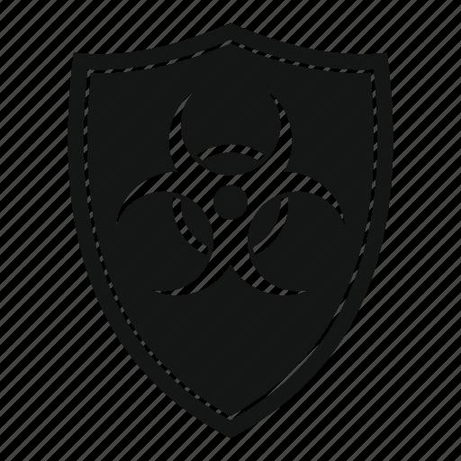 biohazard, biological, danger, hazard, shield, toxic icon