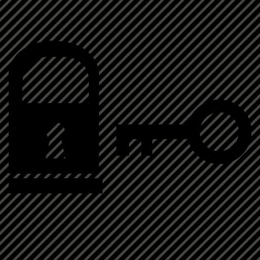 access, key, lock, safety icon