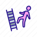 abstract, business, contemporary, cool, down, safety, work icon