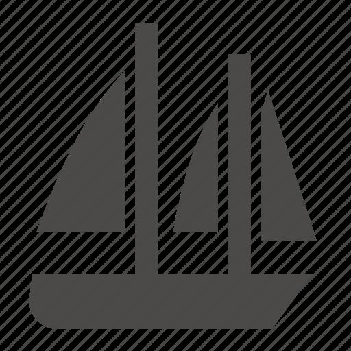 bermuda, marine, military, passenger, schooner, ship, transport icon