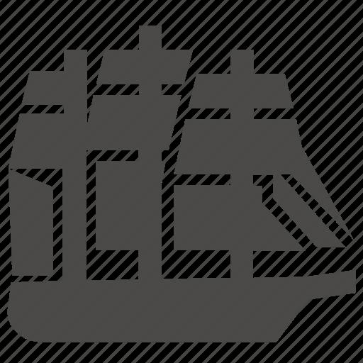 corvette, marine, military, passenger, sailing, ship, transport icon