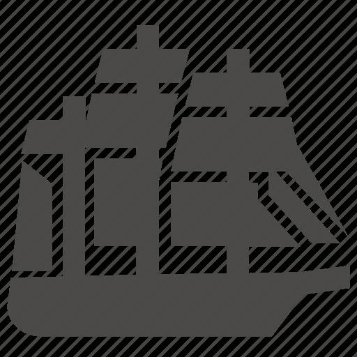frigate, marine, military, passenger, sailing, ship, transport icon