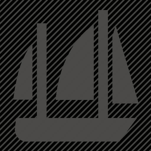 ketch, marine, military, passenger, sailing, ship, transport icon