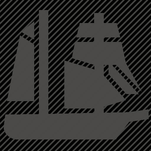 marine, mars, military, passenger, schooner, ship, transport icon