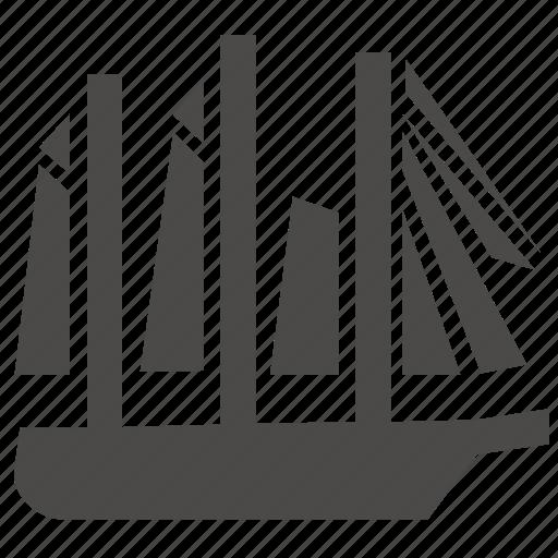 marine, military, passenger, sailing, schooner, ship, transport icon