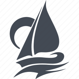 boat, sail, sea, speed, storm, wave, wind icon
