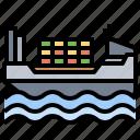 cargo, distribution, ship, transportation