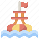 beach, buoy, float, floating, security icon
