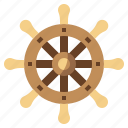 captain, pirate, rudder, sailing, steering, transportation, wheel icon