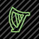 harp, irish, music, saint patrick