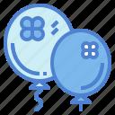 balloons, celebration, clover, decoration icon
