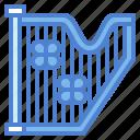 harp, multimedia, music, orchestra icon
