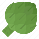 antioxidant, artichoke, healthy, vegetable icon