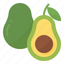 avocado, healthy, vegetable, vitamins icon