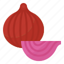 fiber, healthy, onions, vegetable icon
