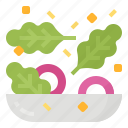food, healthy, recipes, salad, vegetable icon