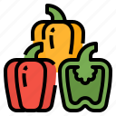 bell, c, pepper, vegetable, vitamins icon