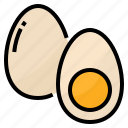 boiled, eggs, food, protein icon