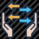 arrows, exchange, give, move, take, transfer icon