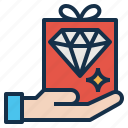 benefit, extra, gift, give, offer, privilege, reward icon
