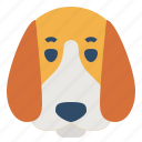 animal, avatar, beagle, dog, pet, puppy icon