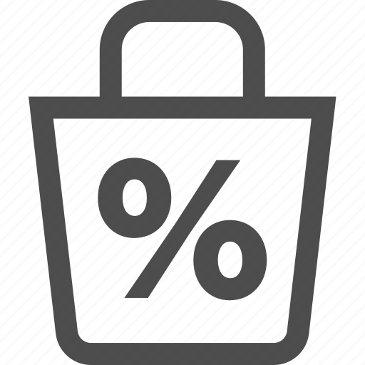 bag, discount, fees, promotion, sale, shopping icon