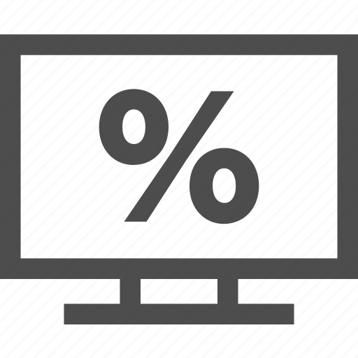 discount, electronic, fees, percent, sale icon