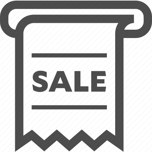 discount, price, receipt, sale, sold, tag icon